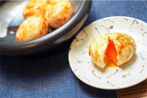 ヤンニョムゆで卵