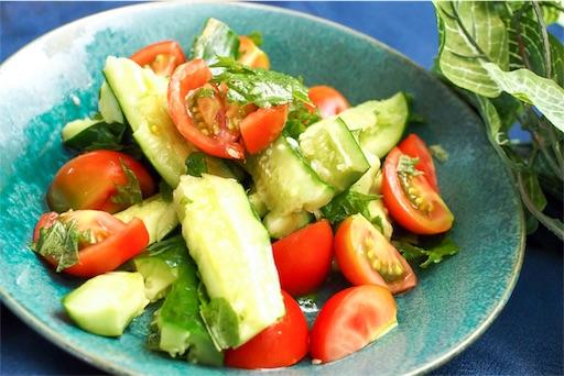 夏野菜の白だしサラダ