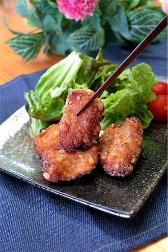 ポン酢で柔らかい鶏むね肉の唐揚げ