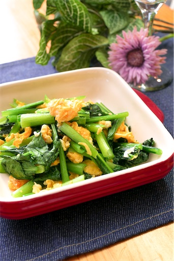 小松菜と卵の出汁和え