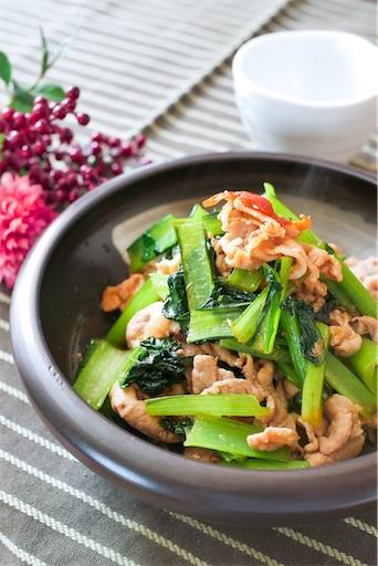 小松菜の生姜焼き