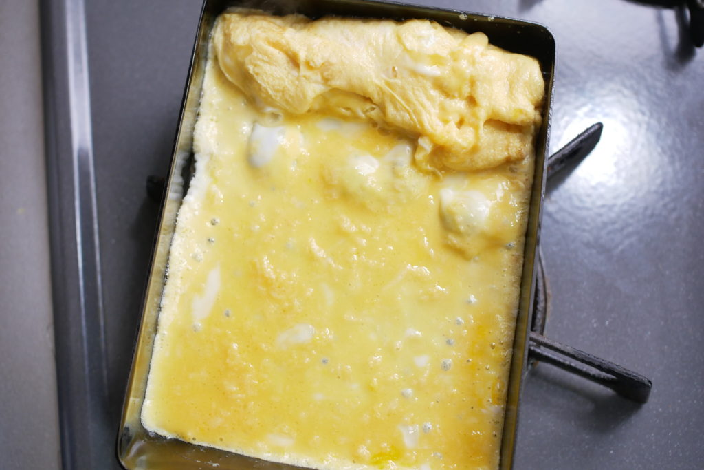 卵焼きを焼く
