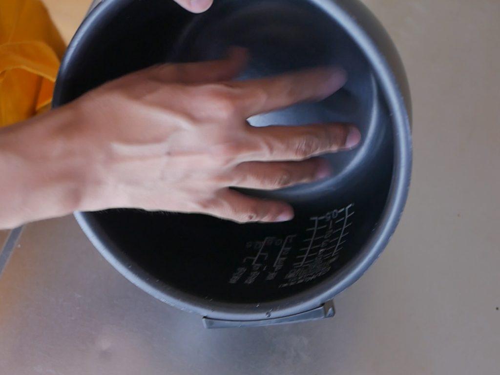 ボールで洗う