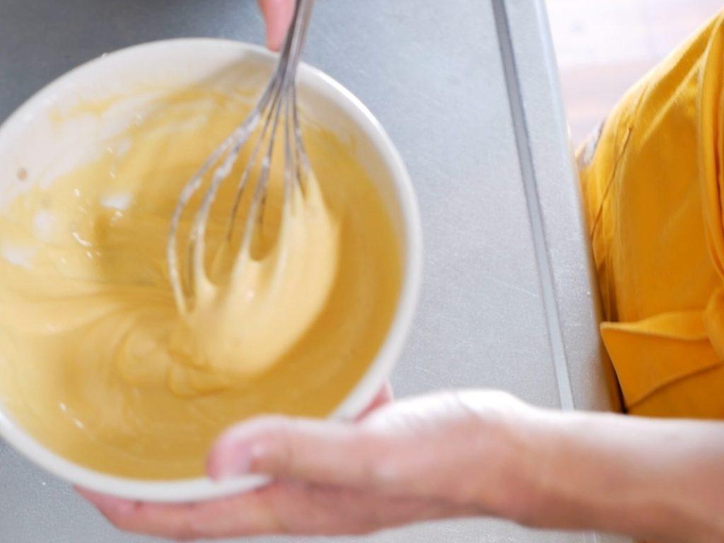 卵黄の生地の完成