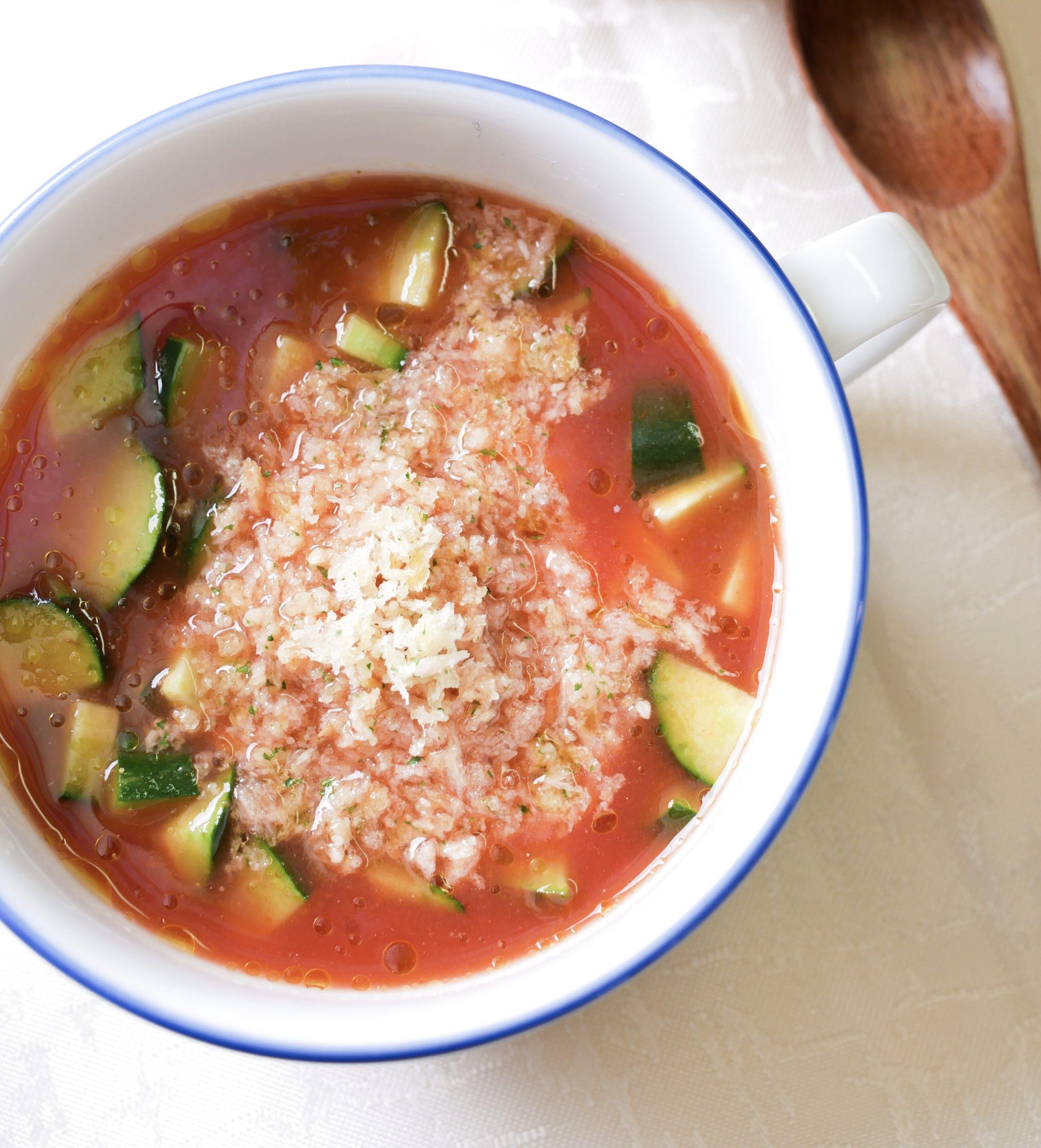 きゅうりのガスパチョ風スープ