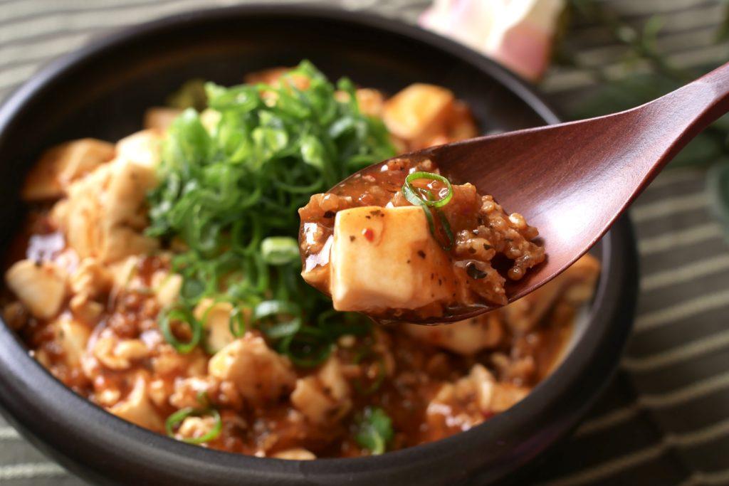 麻婆豆腐のはしあげ