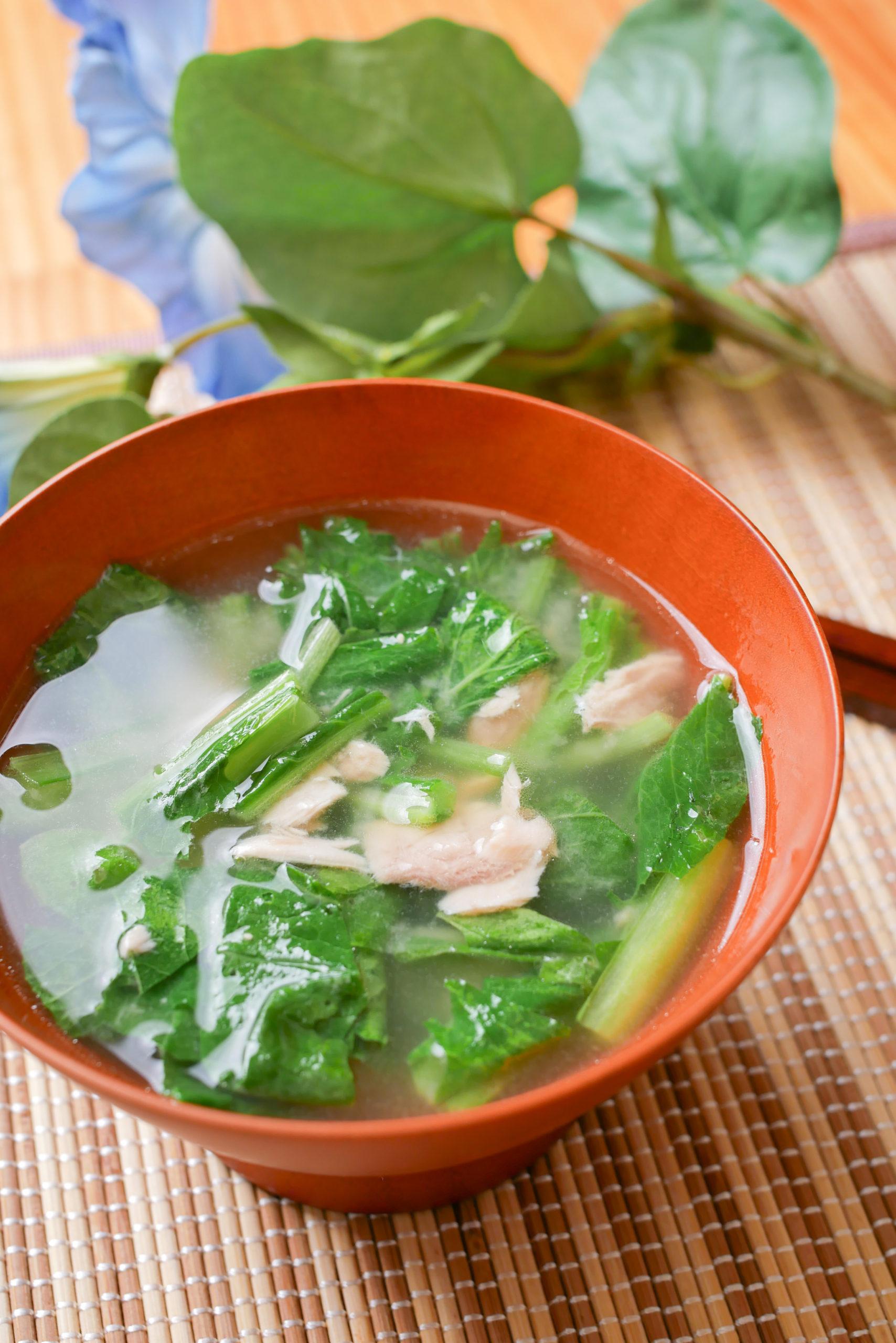 ツナと小松菜の味噌汁