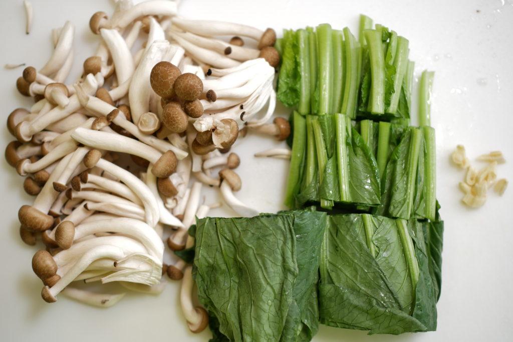 エチュベの野菜を準備する