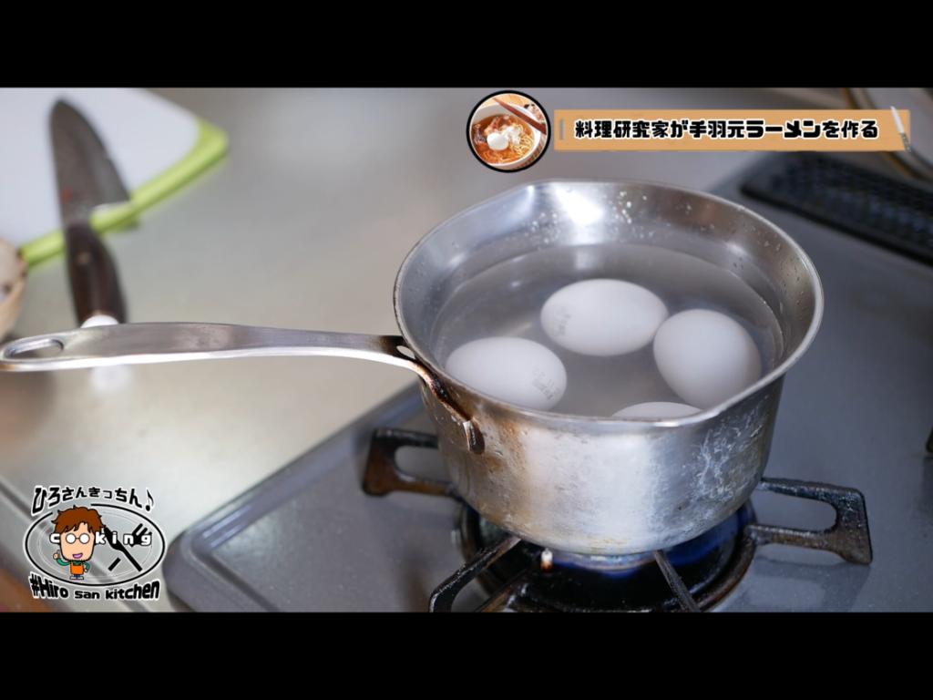 ゆで卵を作る