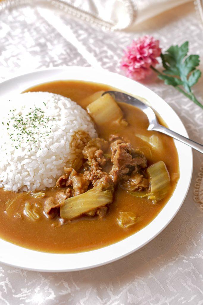 白菜と牛肉のカレー