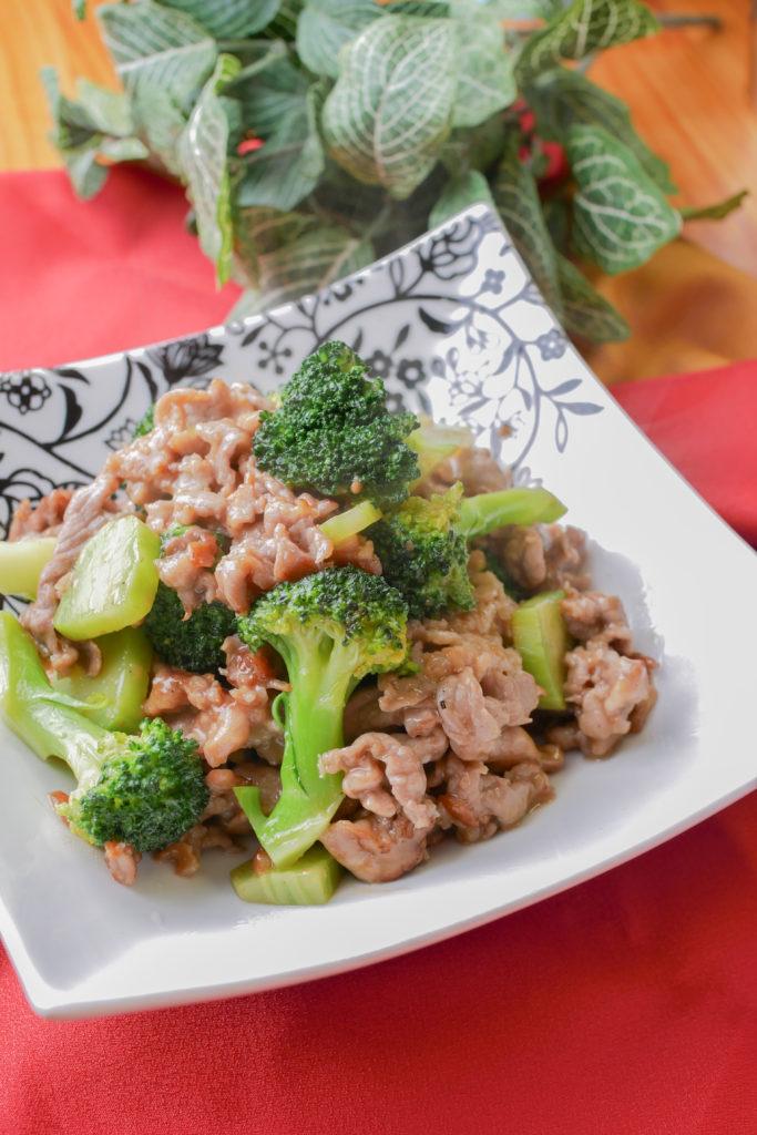 豚こま肉とブロッコリーの照り炒め