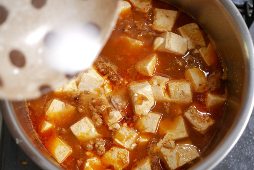 麻婆豆腐とろみづけ